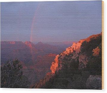 Grand Canyon Rainbow Wood Print by Jayne Wilson