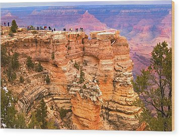 Wood Print featuring the photograph Grand Canyon South Rim by Bob Pardue