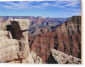 Grand Canyon - South Rim View Wood Print by Aidan Moran