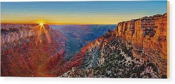Grand Canyon Sunset Wood Print by Az Jackson