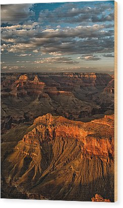 Grand Canyon Sunset Wood Print by Cat Connor