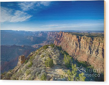 Grand Canyon - Sunset Point Wood Print by Juergen Klust