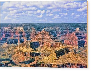 Wood Print featuring the painting Grand Canyon by Tracie Kaska