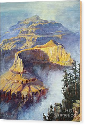 Wood Print featuring the painting Grand Canyon View by Lee Piper