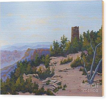 Grand Canyon Watchtower Wood Print