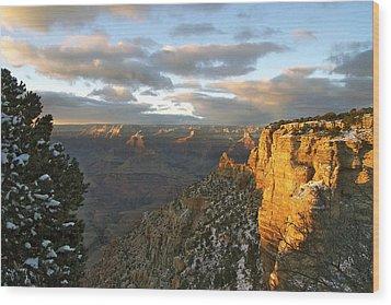 Grand Canyon. Winter Sunset Wood Print by Ben and Raisa Gertsberg