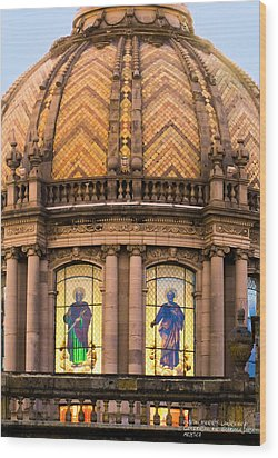 Wood Print featuring the photograph Grand Cathedral Of Guadalajara by David Perry Lawrence