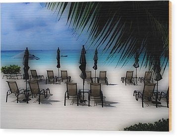 Wood Print featuring the photograph Grand Cayman Dreamscape by Caroline Stella