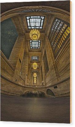 Grand Central Corridor Wood Print by Susan Candelario