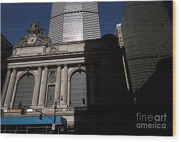 Grand Central In Evening Shadows Wood Print by David Bearden