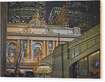 Grand Central Nocturnal Wood Print