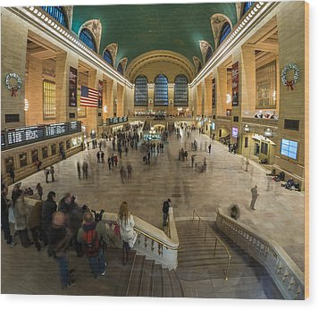 Wood Print featuring the photograph Grand Central Station by Steve Zimic
