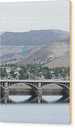 Wood Print featuring the photograph Grand Coulee Dam And Coulee City by E Faithe Lester