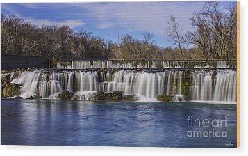 Grand Falls In Joplin Missouri Wood Print