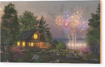 Grand Finale Wood Print by Randy Earles