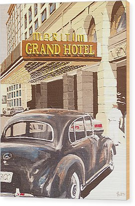 Grand Hotel East Berlin Germany Wood Print by Paul Guyer