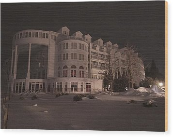 Grand Hotel On A Winter Night Wood Print by Keith Stokes