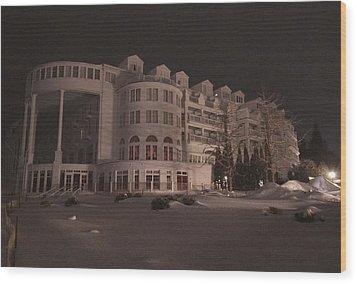 Grand Hotel On A Winter Night Wood Print