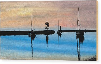 Grand Marais Harbor Wood Print by R Kyllo
