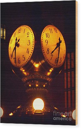 Grand Old Clock - Grand Central Station New York Wood Print