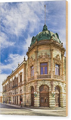 Grand Old Theater In The Heart Of Oaxaca Wood Print by Mark E Tisdale