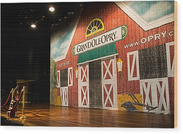 Grand Ole Opry Wood Print by Glenn DiPaola