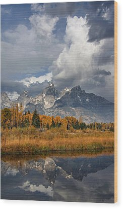Grand Ole Tetons Wood Print
