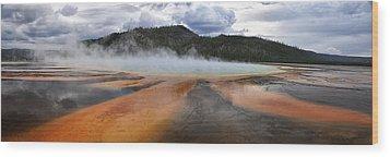 Grand Prismatic Spring Wood Print by Rob Hemphill