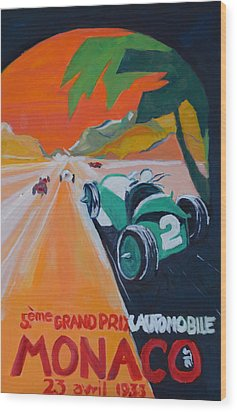 Grand Prix Wood Print by Julie Todd-Cundiff