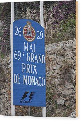 Grand Prix Sign Wood Print