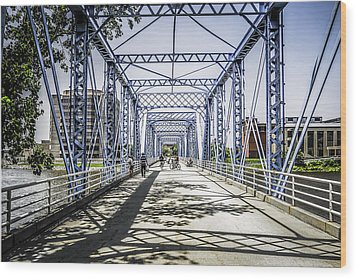 Grand Rapids Bridge Wood Print