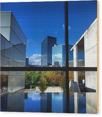 Wood Print featuring the photograph Grand Rapids Museum Of Art by Toni Martsoukos
