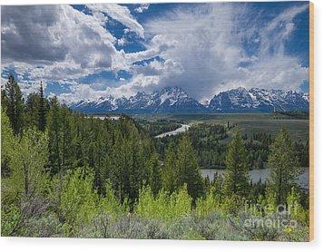 Grand Teton Np Wood Print