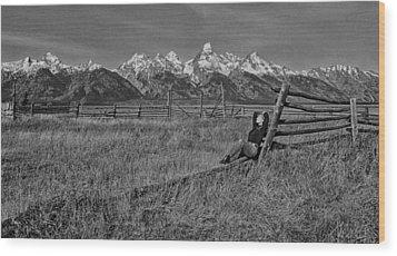 Grand Teton Repose Wood Print