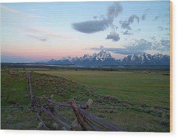 Grand Tetons Before Sunrise Wood Print by Brian Harig