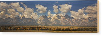 Wood Print featuring the photograph Grand Tetons by Sonya Lang
