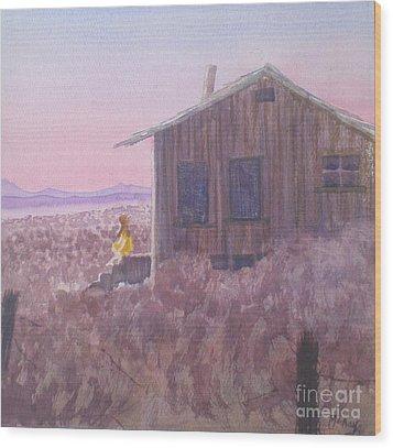 Granddad's Cabin Wood Print
