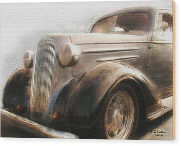 Granddads Classic Car Wood Print