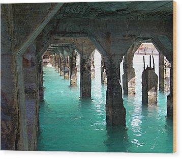 Grande Casse Pier Wood Print