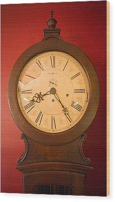 Grandfather Clock Top 1 Wood Print by Douglas Barnett