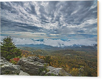 Grandfather Mountain Wood Print by John Haldane