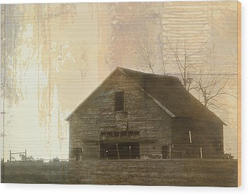 Grandfather's Barn Wood Print by Lena Wilhite