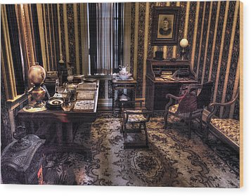 Grandfather's Office Wood Print by William Fields
