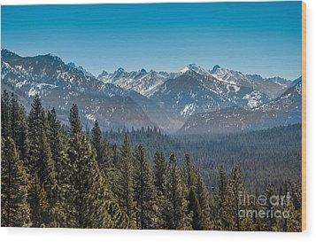 Grandjean Valley Wood Print by Robert Bales