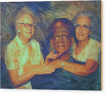 Grandma And Aunt With Frank Wood Print