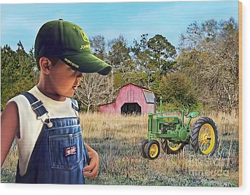 Grandma Say Nothin Runs Like A Deere Wood Print
