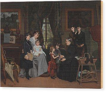 Grandmas Birthday Wood Print by Louis Edmond Pomey