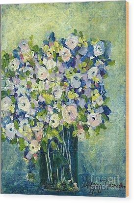Grandma's Flowers Wood Print by Sherry Harradence