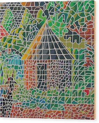 Grandma's House Wood Print by Anthony Mwangi