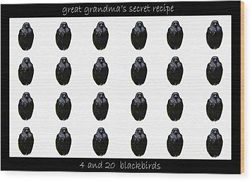 Grandmas Secret Recipe Wood Print by Jennifer Muller